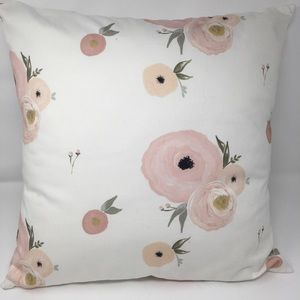 "Laurel & Blush 20"" Floral Throw Pillow"